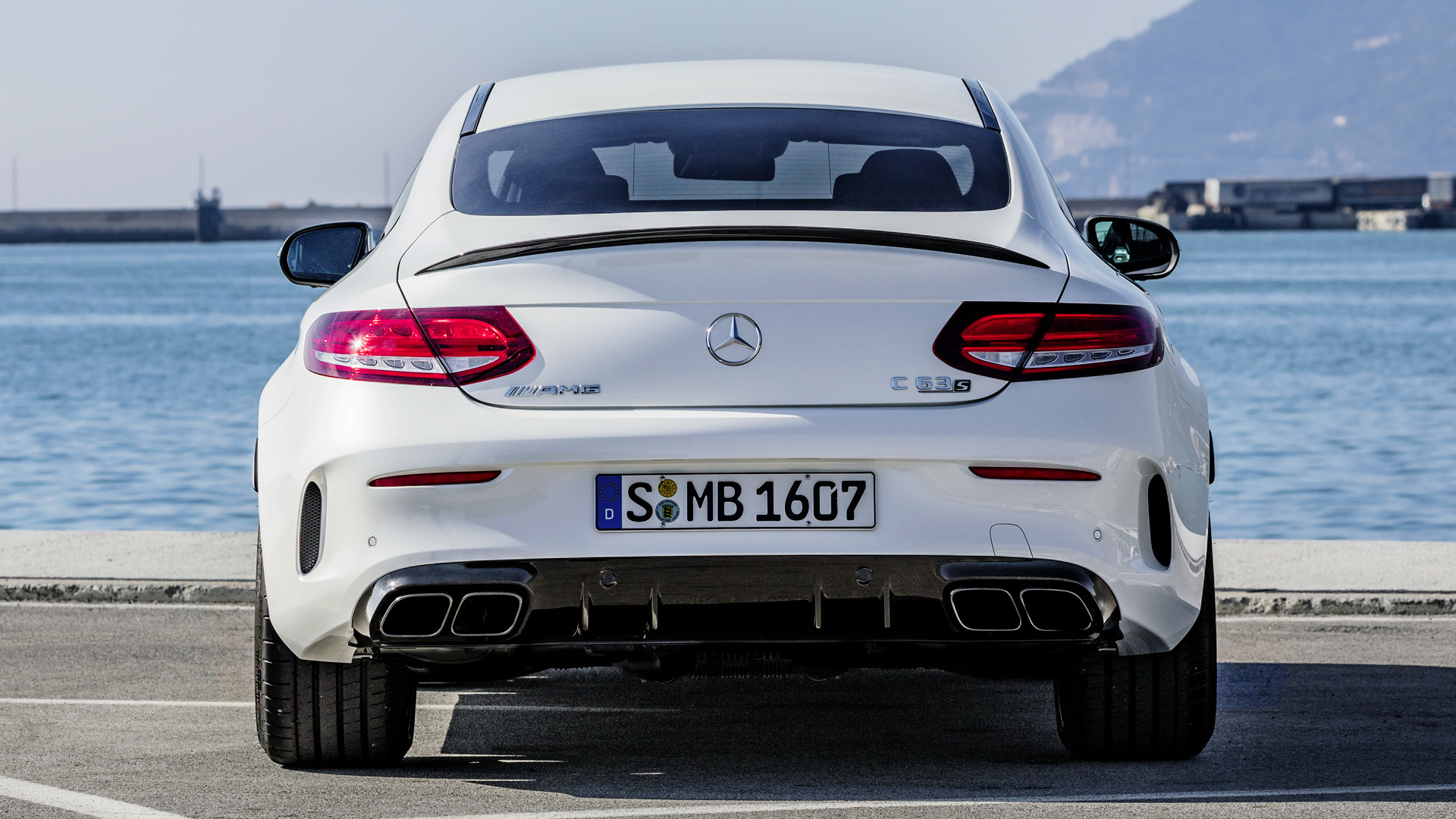2018 Mercedes Amg C 63 S Coupe Papel De Parede Hd Plano De Fundo 1920x1080 Id 926590 Wallpaper Abyss