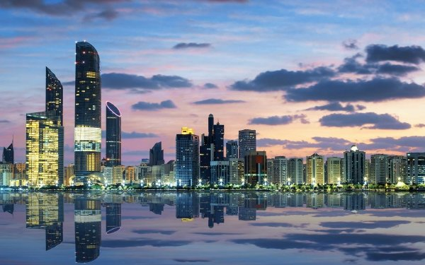 Man Made Etihad Towers Abu Dhabi United Arab Emirates Building Reflection HD Wallpaper   Background Image