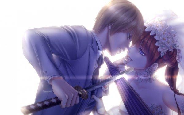 Anime Gintama Kagura Okita Sougo HD Wallpaper | Background Image