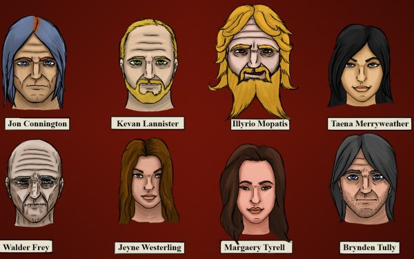 Fantasy A Song Of Ice And Fire Walder Frey Margaery Tyrell Brynden Tully Jon Connington HD Wallpaper | Background Image