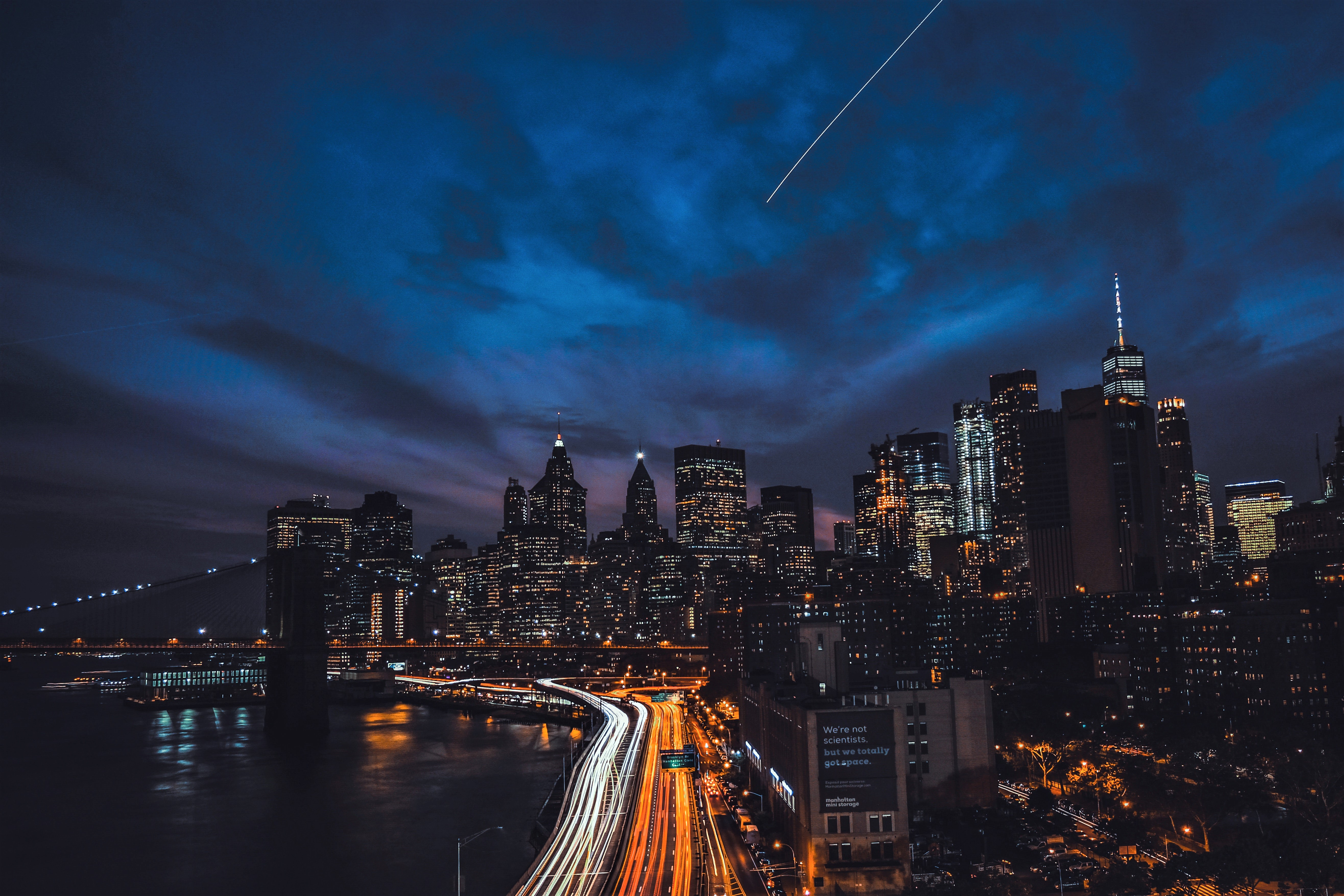 Night In New York City 5k Retina Ultra Hd Wallpaper Background Image 5263x3509 Id 933989 Wallpaper Abyss