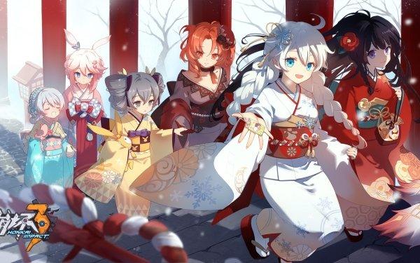 Video Game Honkai Impact 3rd Bronya Zaychik Kiana Kaslana Murata Himeko Raiden Mei Theresa Apocalypse Yae Sakura HD Wallpaper | Background Image