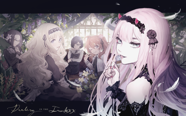 Anime Darling in the FranXX Zero Two Ikuno Ichigo Miku Kokoro HD Wallpaper | Background Image