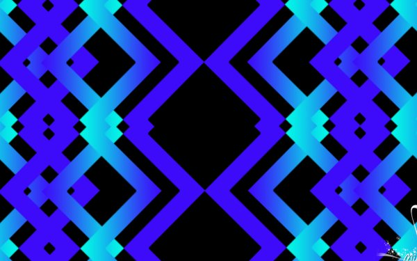 Abstract Geometry Digital Art Blue Shapes Chevron HD Wallpaper | Background Image