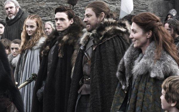 TV Show Game Of Thrones Eddard Stark Catelyn Stark Sansa Stark Robb Stark Hodor Sophie Turner Richard Madden Kristian Nairn Sean Bean Michelle Fairley HD Wallpaper | Background Image