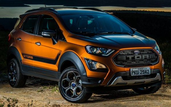 Vehicles Ford EcoSport Storm Ford Subcompact Car Crossover Car SUV Brown Car Car HD Wallpaper | Background Image