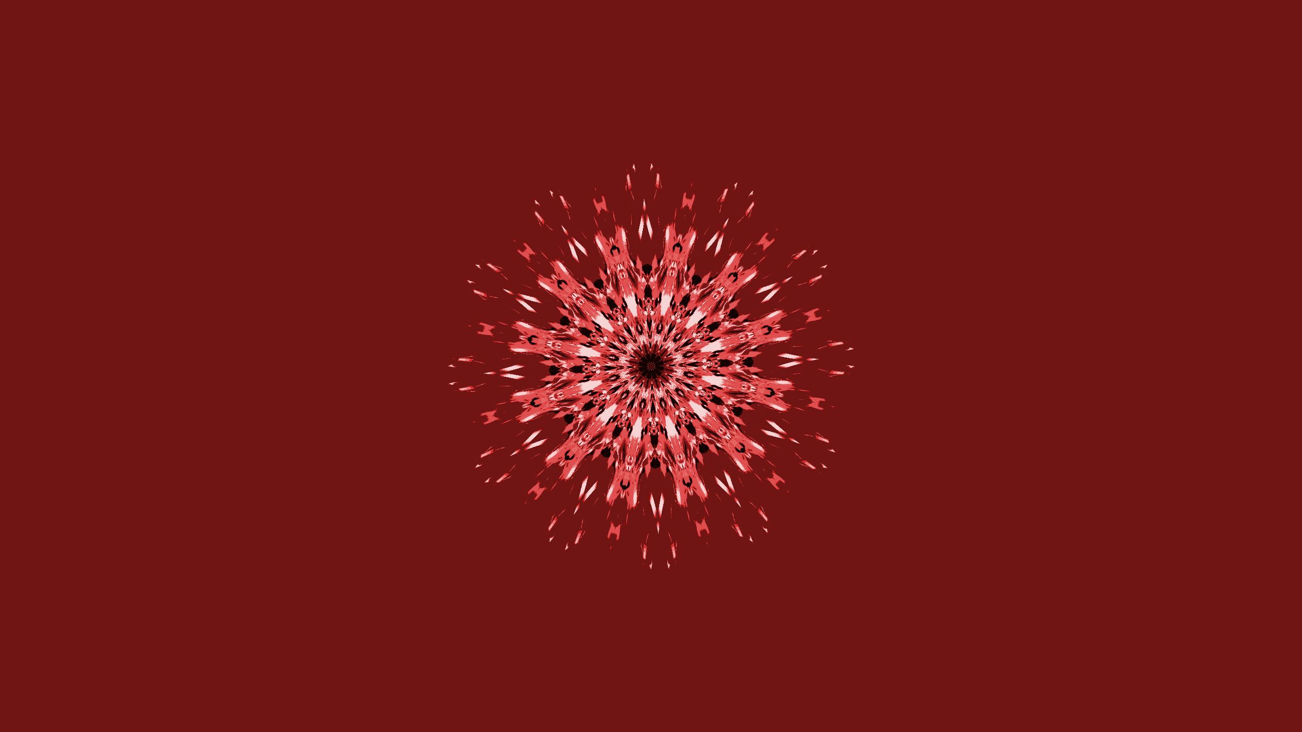 Red Kaleidoscope Art Fond Décran Hd Arrière Plan