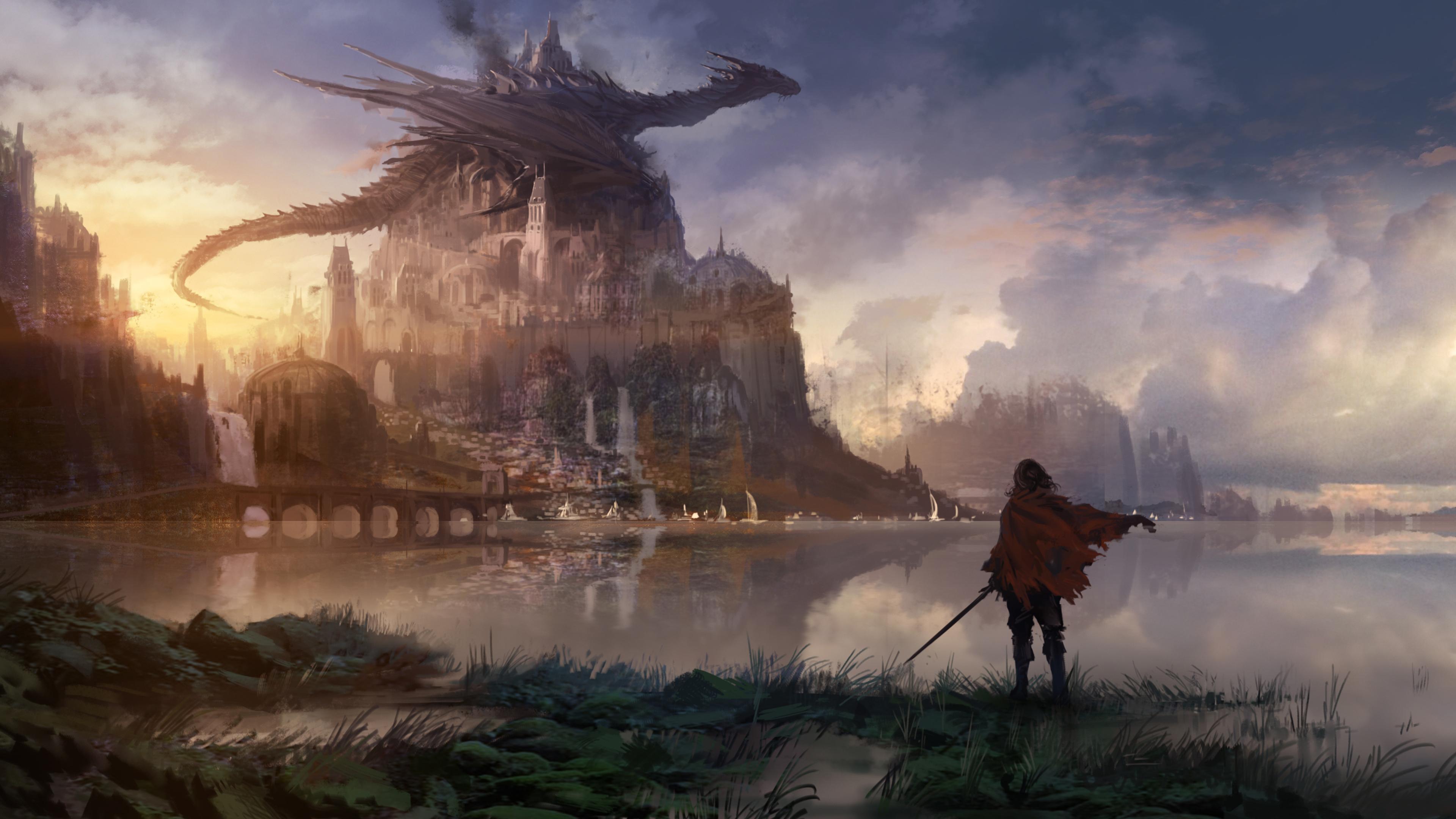 fantasy knight 4k ultra hd wallpaper