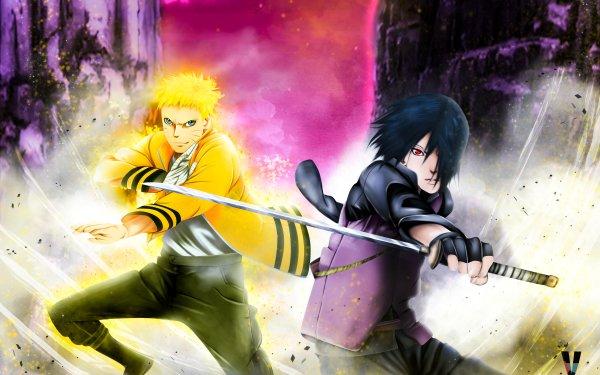Anime Boruto Naruto Naruto Uzumaki Sasuke Uchiha HD Wallpaper   Background Image