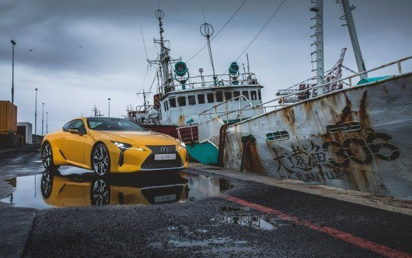 Véhicules Lexus LC 500 Lexus Voiture Yellow Car Grand Tourer Luxury Car Fond d'écran HD | Arrière-Plan