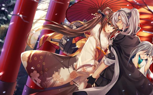Anime Kantai Collection Kiyoshimo Musashi Yamato HD Wallpaper | Background Image
