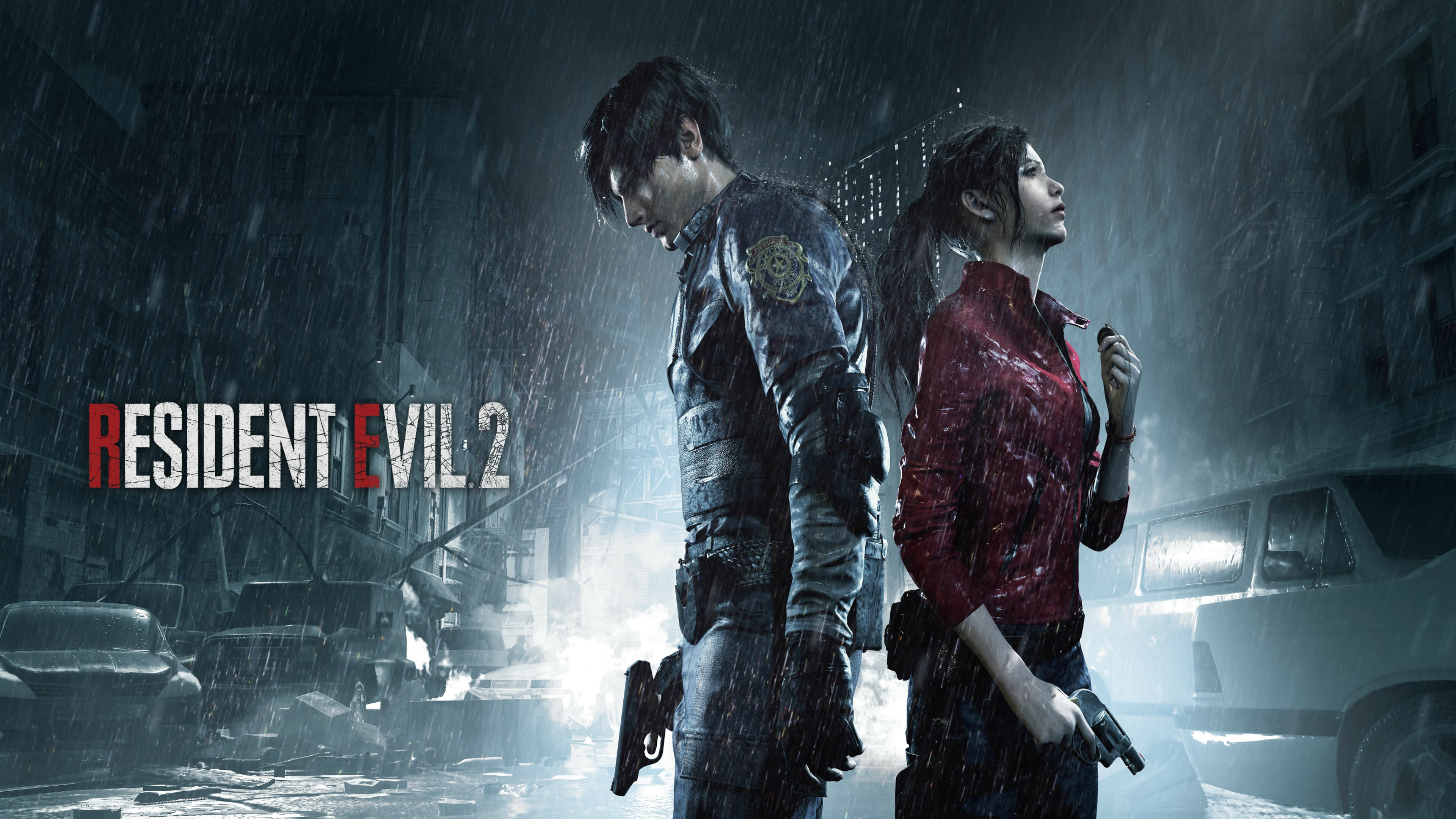 Resident Evil 2 Gamescom 2018 Leon Claire 4k Ultra Fondo