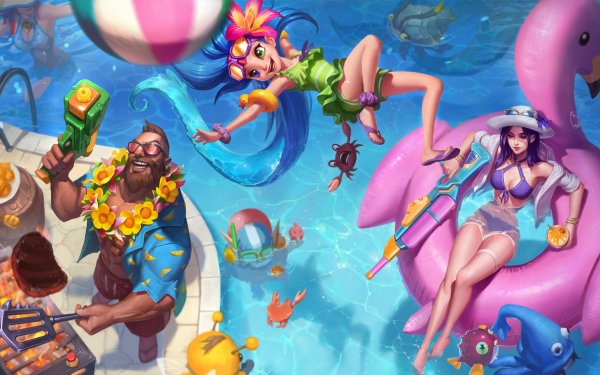 Video Game League Of Legends Zoe Graves Caitlyn HD Wallpaper | Background Image