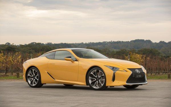 Véhicules Lexus LC 500 Lexus Voiture Yellow Car Luxury Car Fond d'écran HD | Arrière-Plan