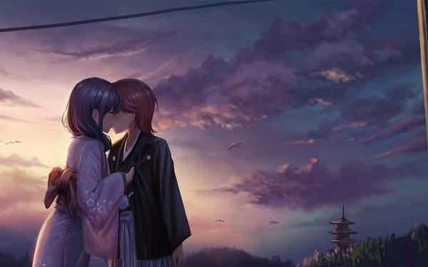 Anime Shoujo☆Kageki Revue Starlight Kaoruko Hanayagi Futuba Isurugi Yuri HD Wallpaper | Background Image