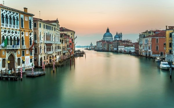 Man Made Venice Cities Italy Grand Canal Architecture Water Building HD Wallpaper | Background Image