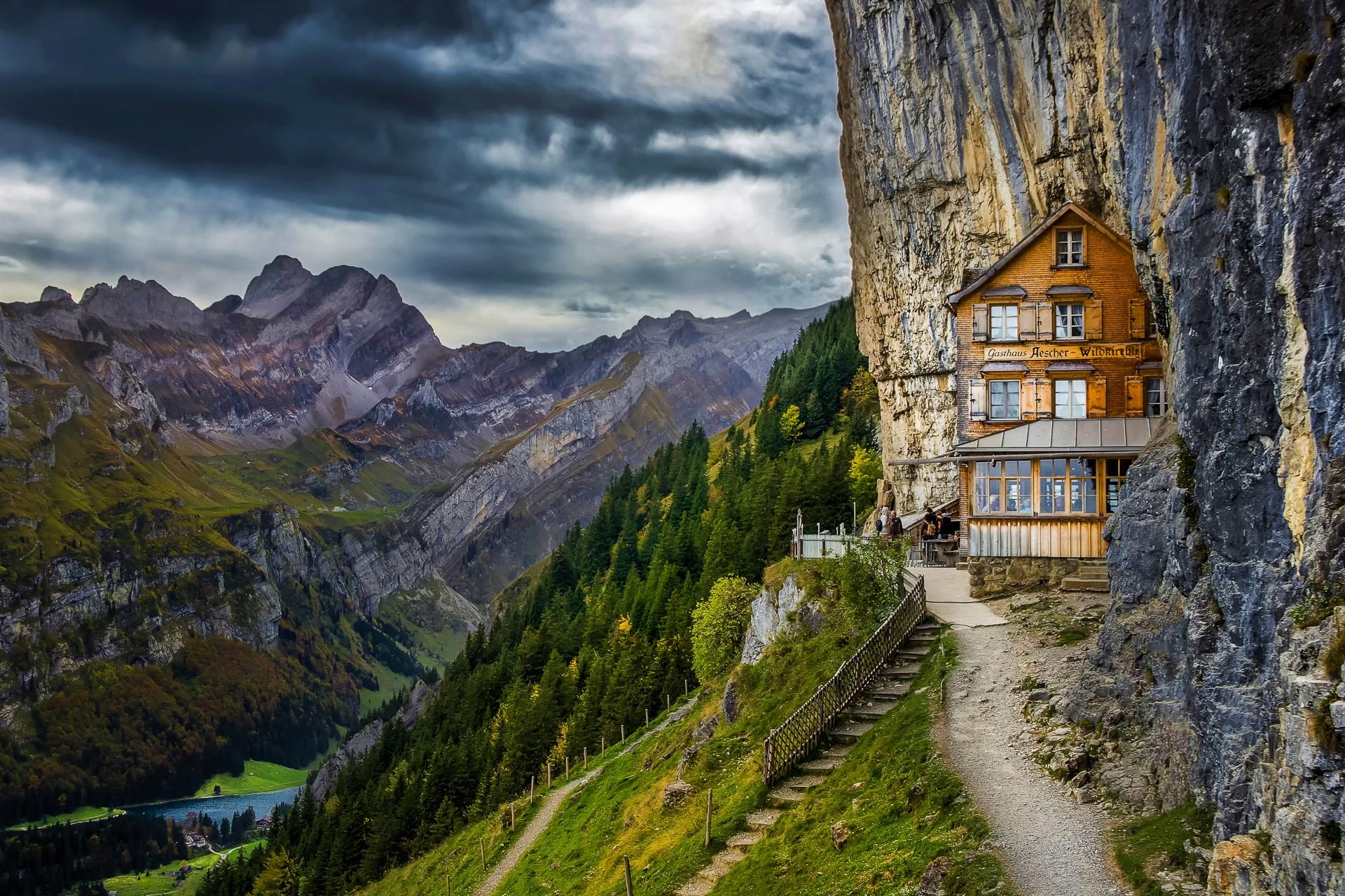 School In The Swiss Alps Fondo De Pantalla Hd Fondo De