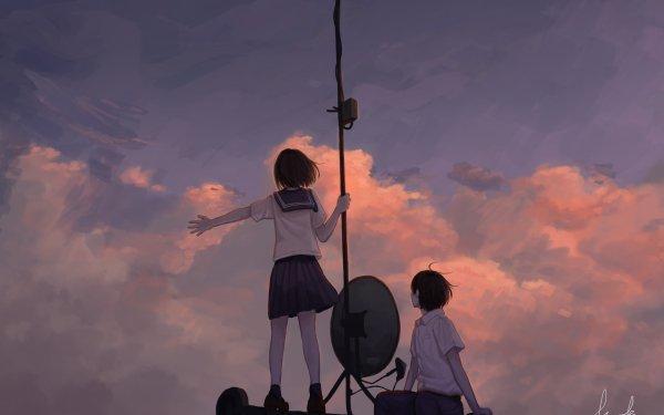Anime Original Short Hair Brown Hair HD Wallpaper   Background Image