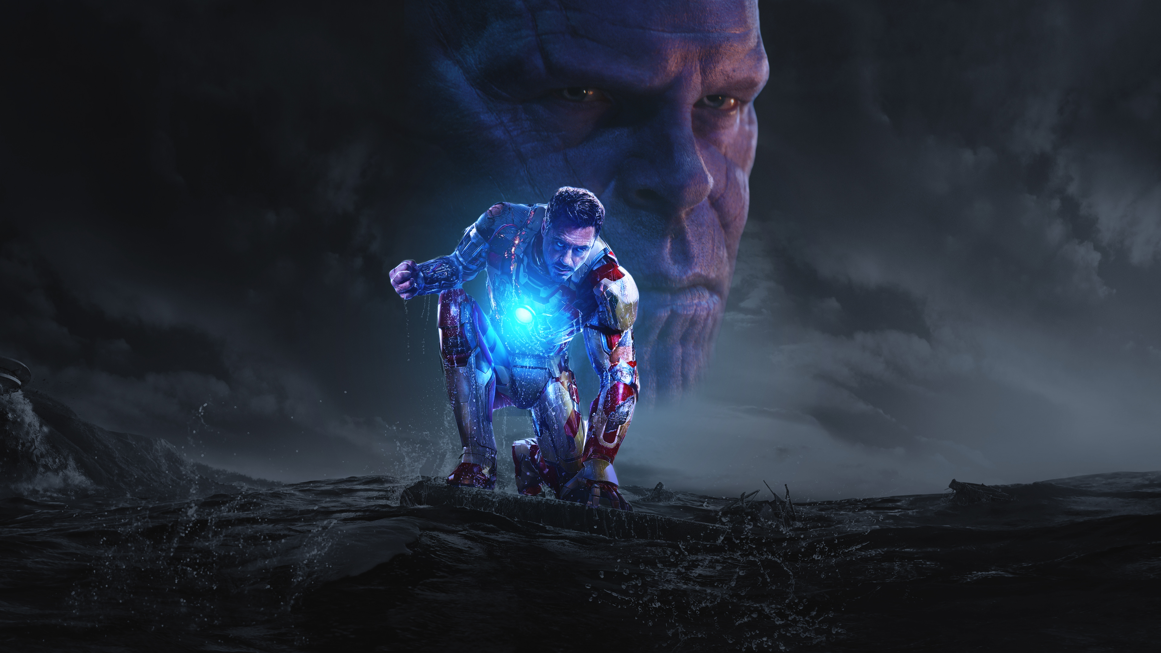 Iron Man and Thanos 4k Ultra HD Wallpaper | Background ...