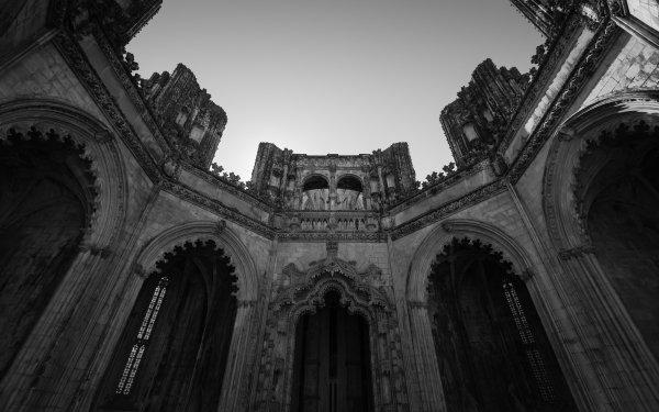 Religious Monastery Batalha Monastery Black & White HD Wallpaper | Background Image