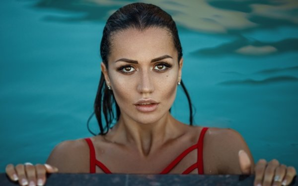 Women Model Models Face Brown Eyes HD Wallpaper | Background Image