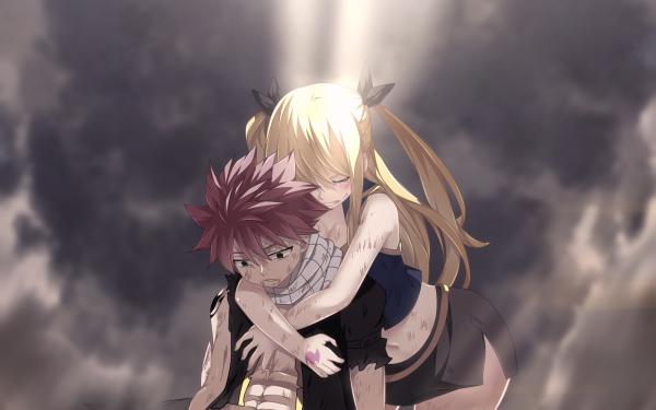 Anime Fairy Tail Natsu Dragneel Lucy Heartfilia HD Wallpaper   Background Image