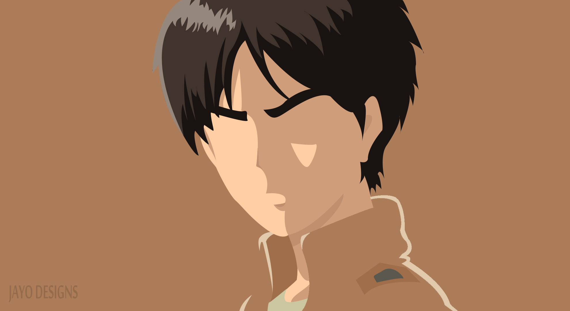 Eren Yeager Minimalist Hd Wallpaper Background Image 1980x1080 Id 954612 Wallpaper Abyss