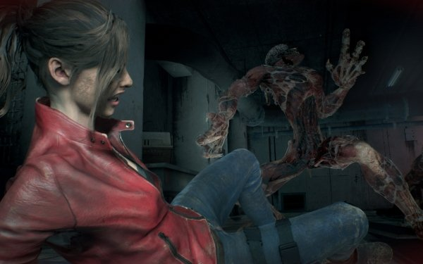 Video Game Resident Evil 2 (2019) Resident Evil Claire Redfield Licker HD Wallpaper   Background Image