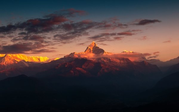 Earth Mountain Mountains Nature Landscape Nepal HD Wallpaper   Background Image