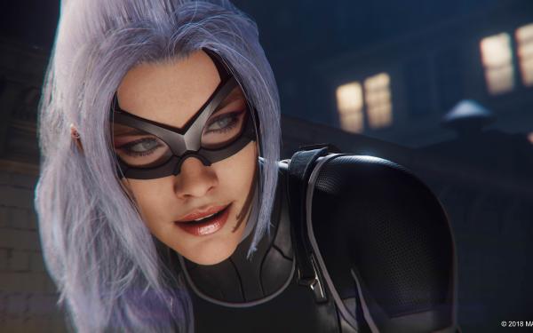 Jeux Vidéo Spider-Man (PS4) Spider-Man Black Cat Fond d'écran HD | Image