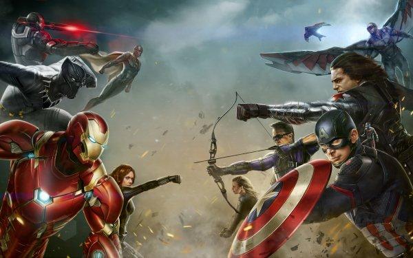 Film Captain America: Civil War Captain America Vision War Machine Black Panther Iron Man Veuve Noire Falcon Winter Soldier Œil-de-Faucon Ant-Man Sharon Carter Fond d'écran HD | Image