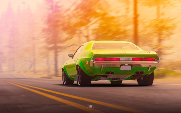 Video Game The Crew 2 Dodge Challenger Dodge Green Car HD Wallpaper   Background Image
