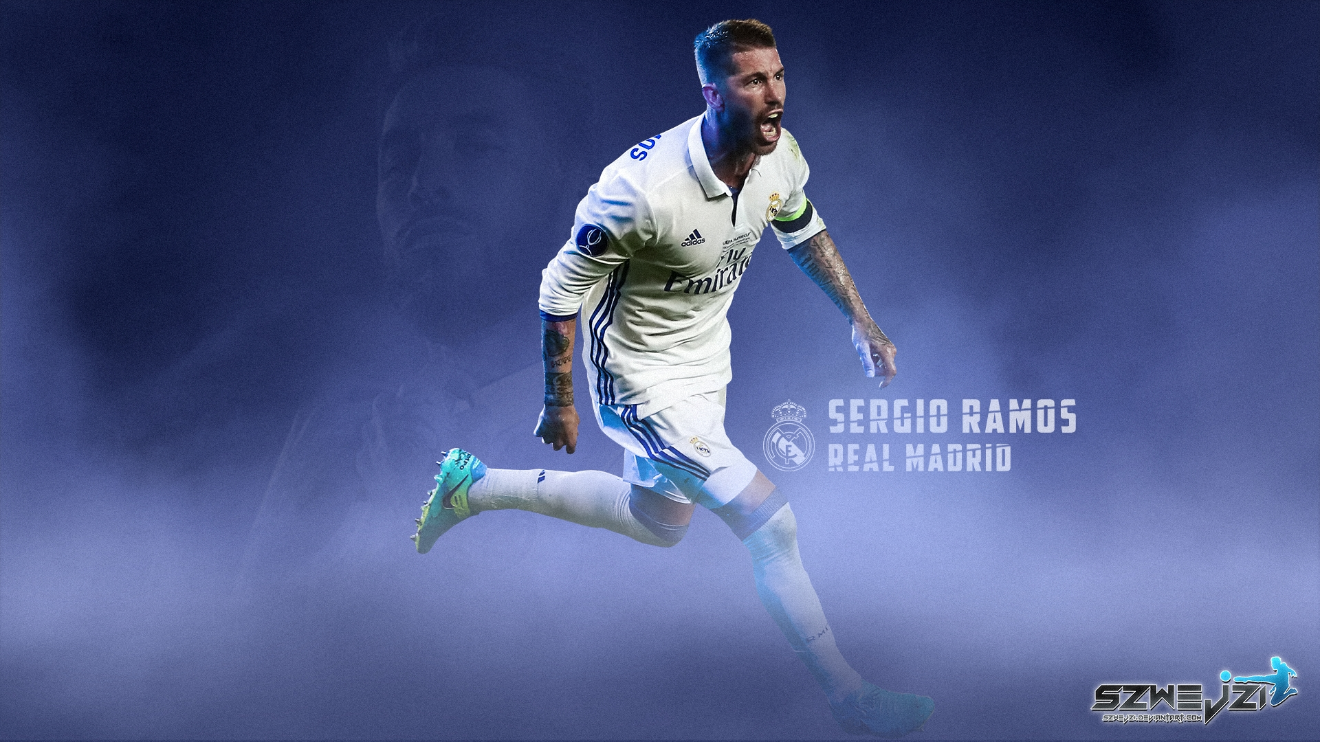 Sergio Ramos Real Madrid Hd Wallpaper Background Image