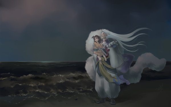 Anime InuYasha Sesshōmaru Rin HD Wallpaper | Background Image