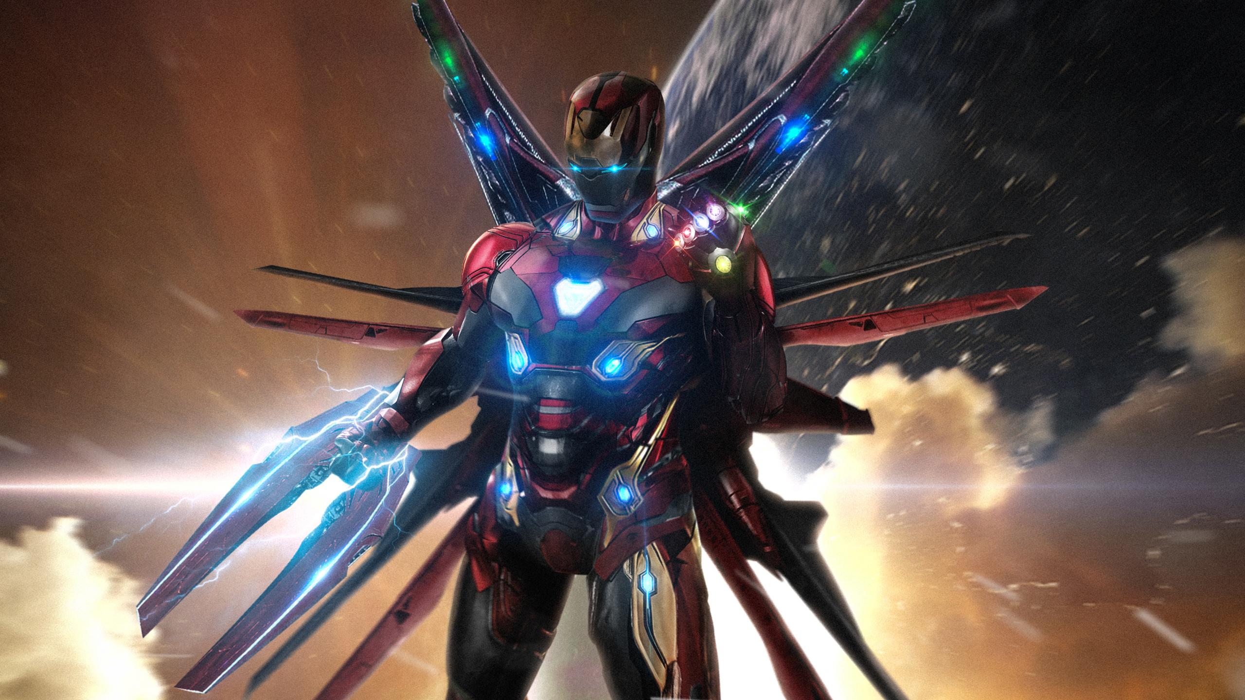 Iron man hd wallpaper background image 2560x1440 id for Sfondi iron man