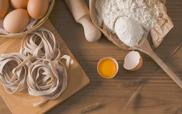 Food Pasta Still Life Egg Flour HD Wallpaper | Background Image