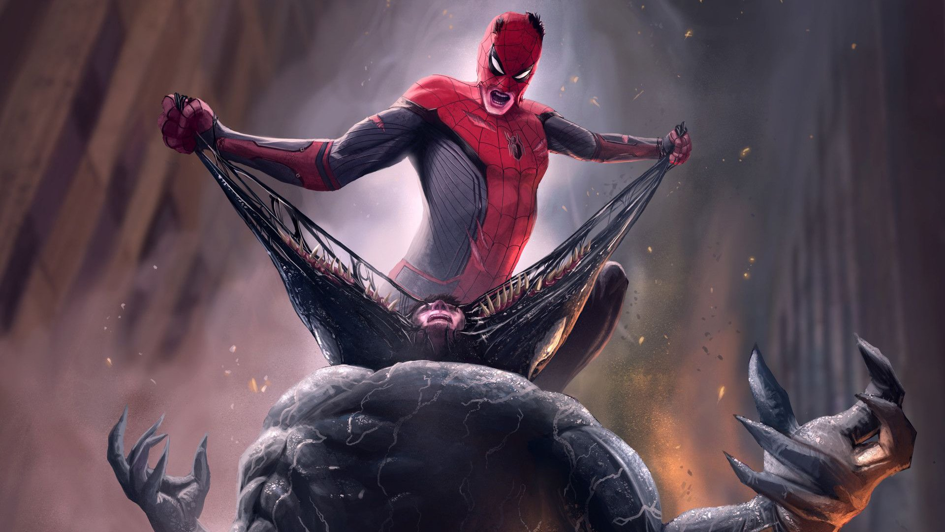 Spider-Man vs Venom 高清壁纸 | 桌面背景 | 1920x1080 | ID:970047 ...