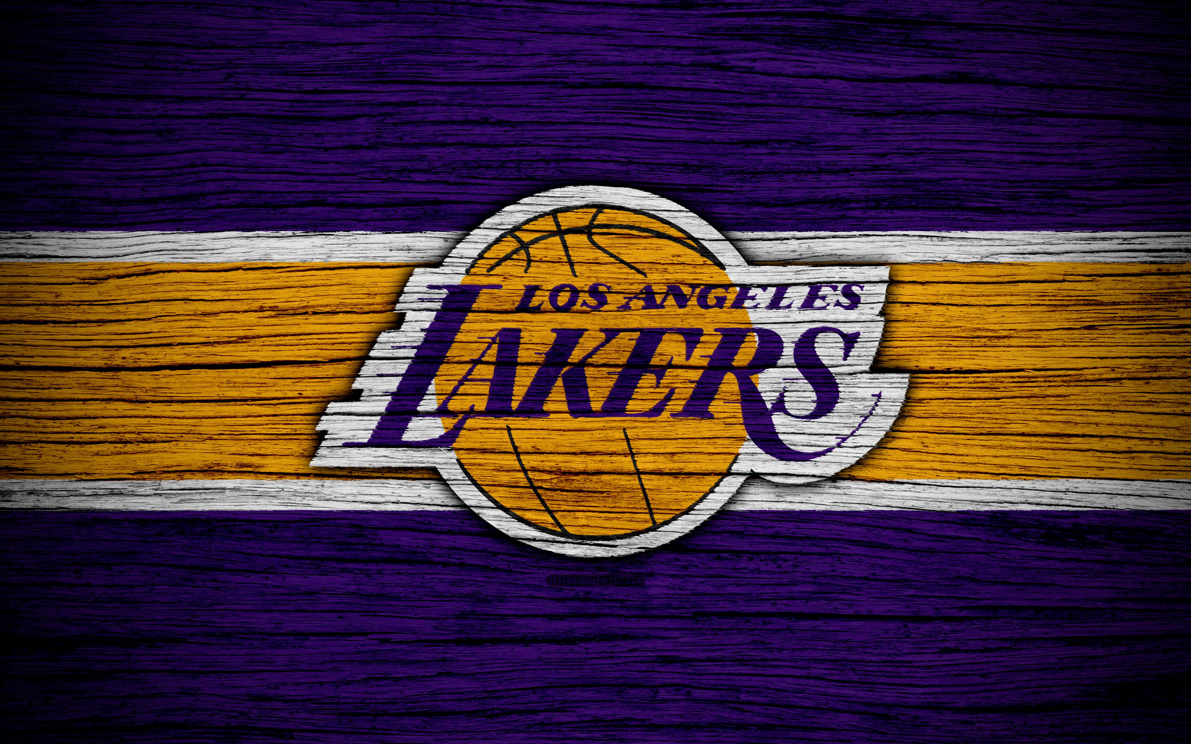 LA Lakers Logo 4k Ultra HD Wallpaper