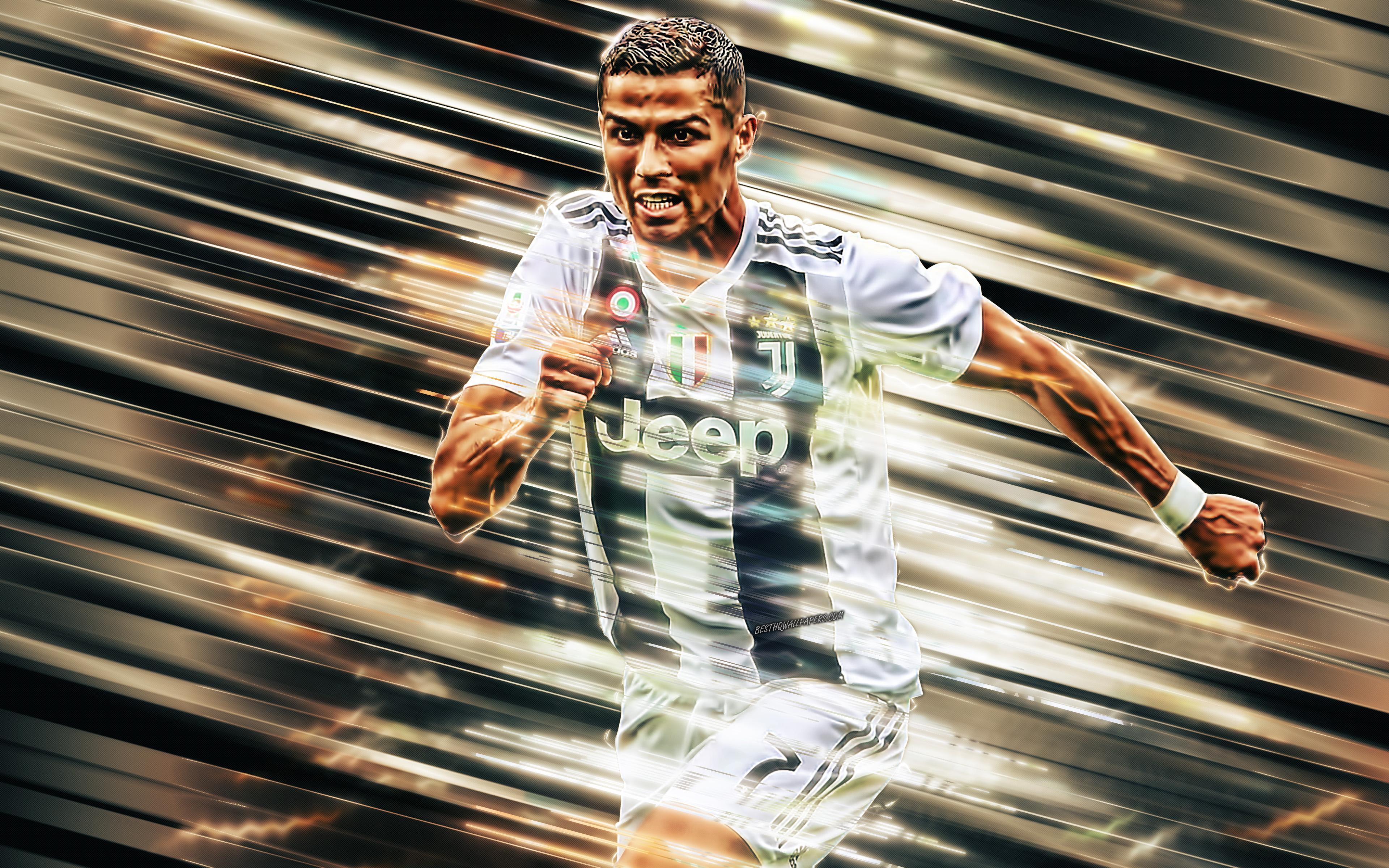 Cristiano Ronaldo Juve 4k Ultra Hd Wallpaper Background Image