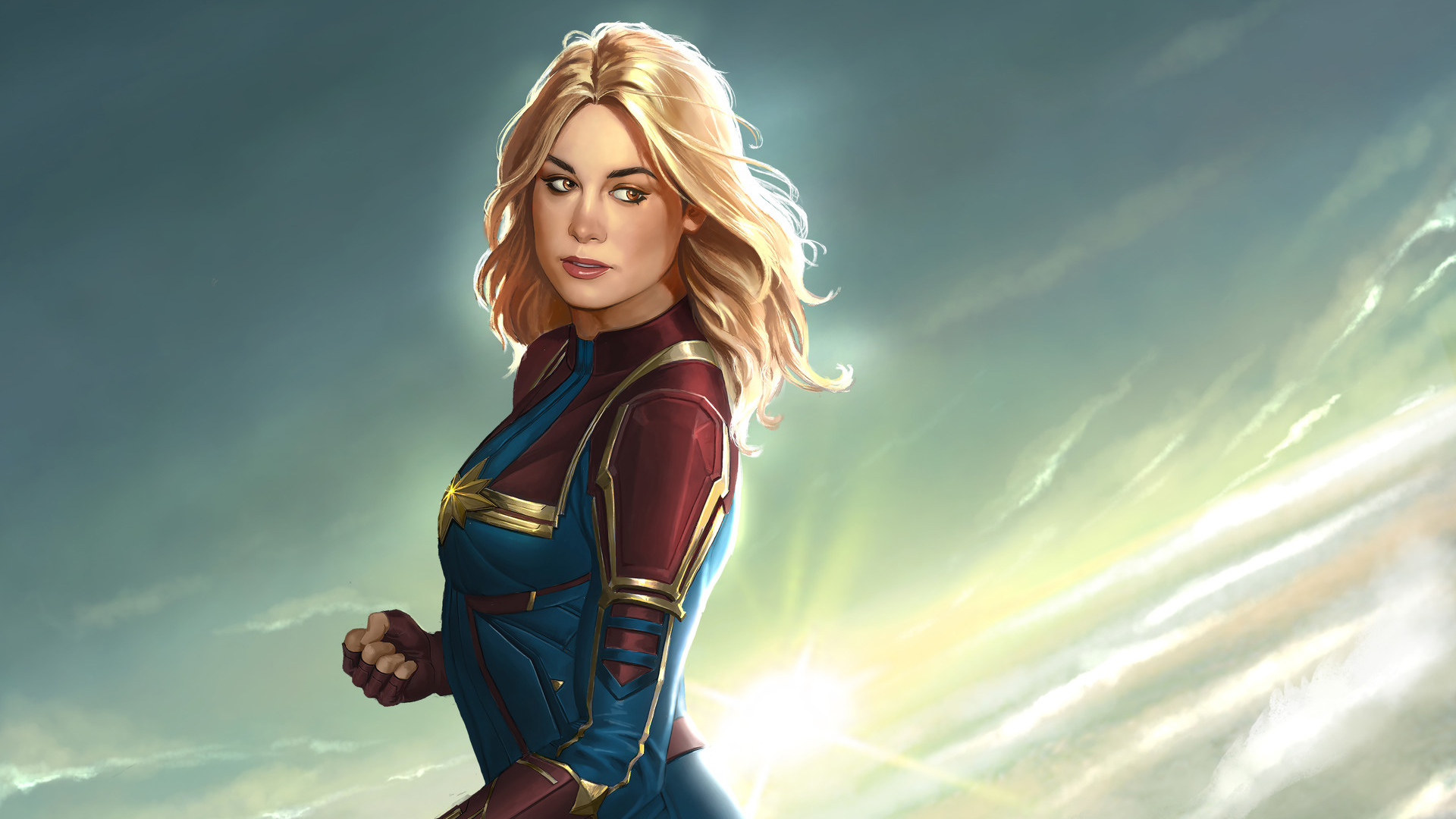 captain marvel hd wallpaper | background image | 1920x1080 | id