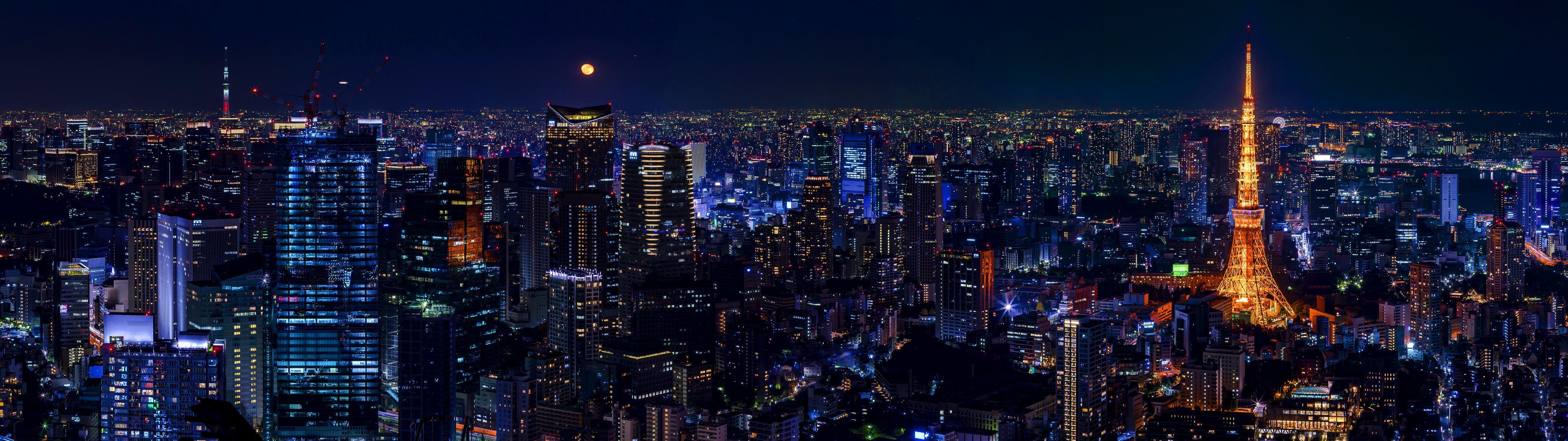 Tokyo Hd Wallpaper Background Image 3840x1080 Id
