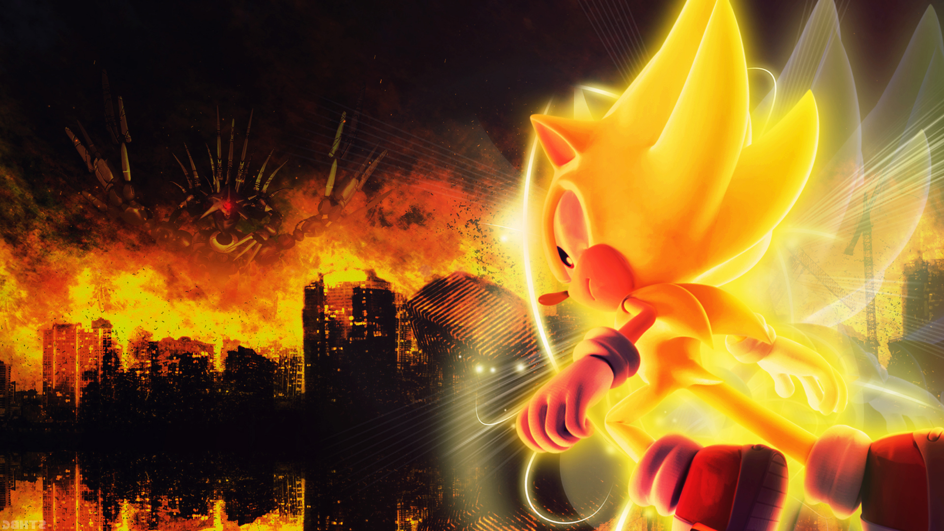 Super Sonic Hd Wallpaper Background Image 1920x1080 Id