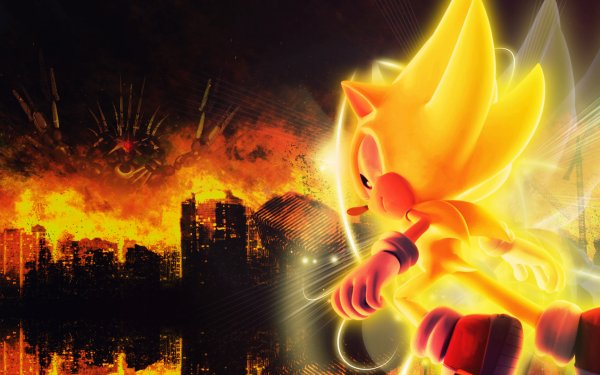 Video Game Sonic the Hedgehog Sonic Super Sonic HD Wallpaper | Background Image