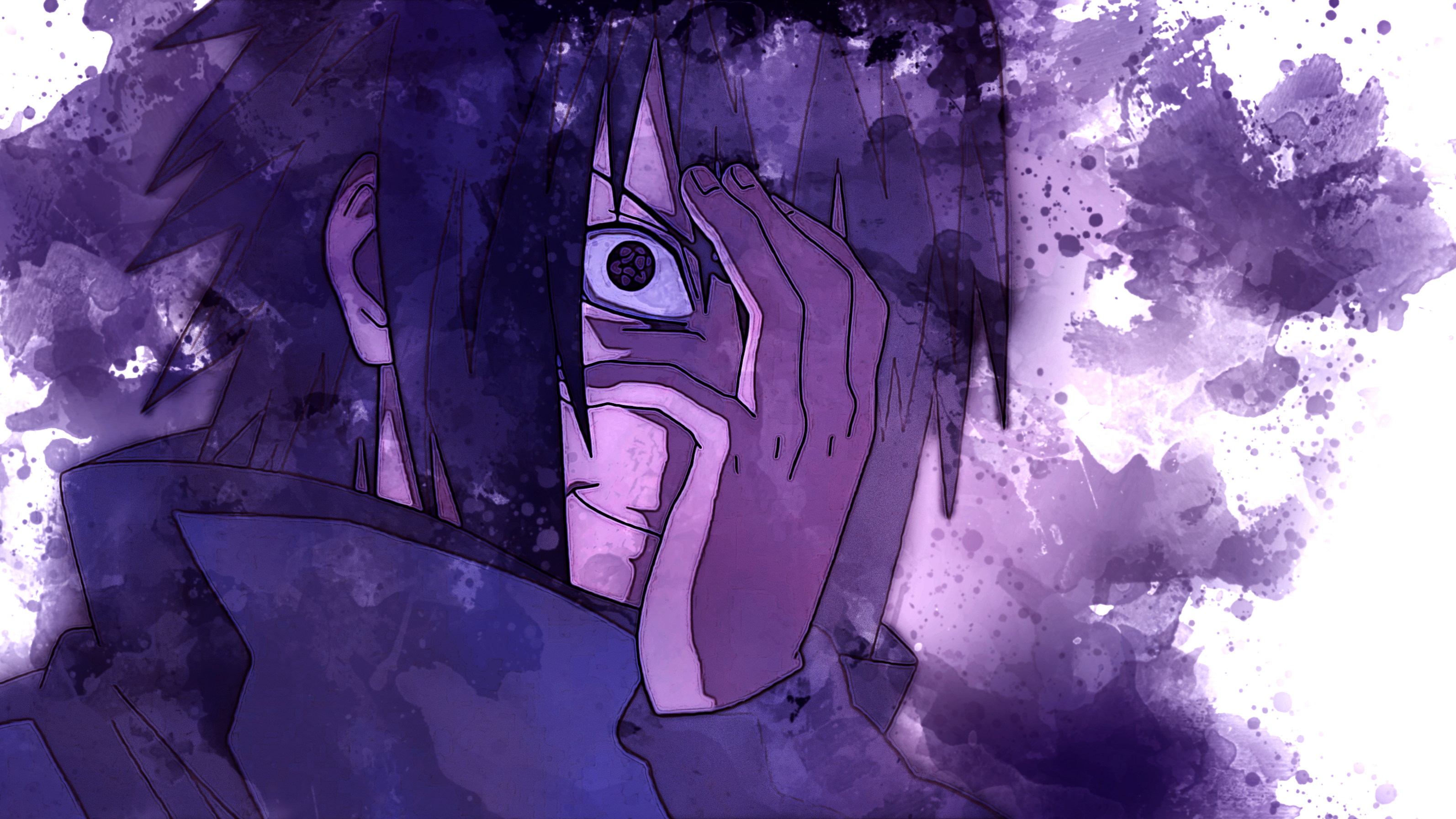 Sasuke Eternal Mangekyou Sharingan HD Wallpaper