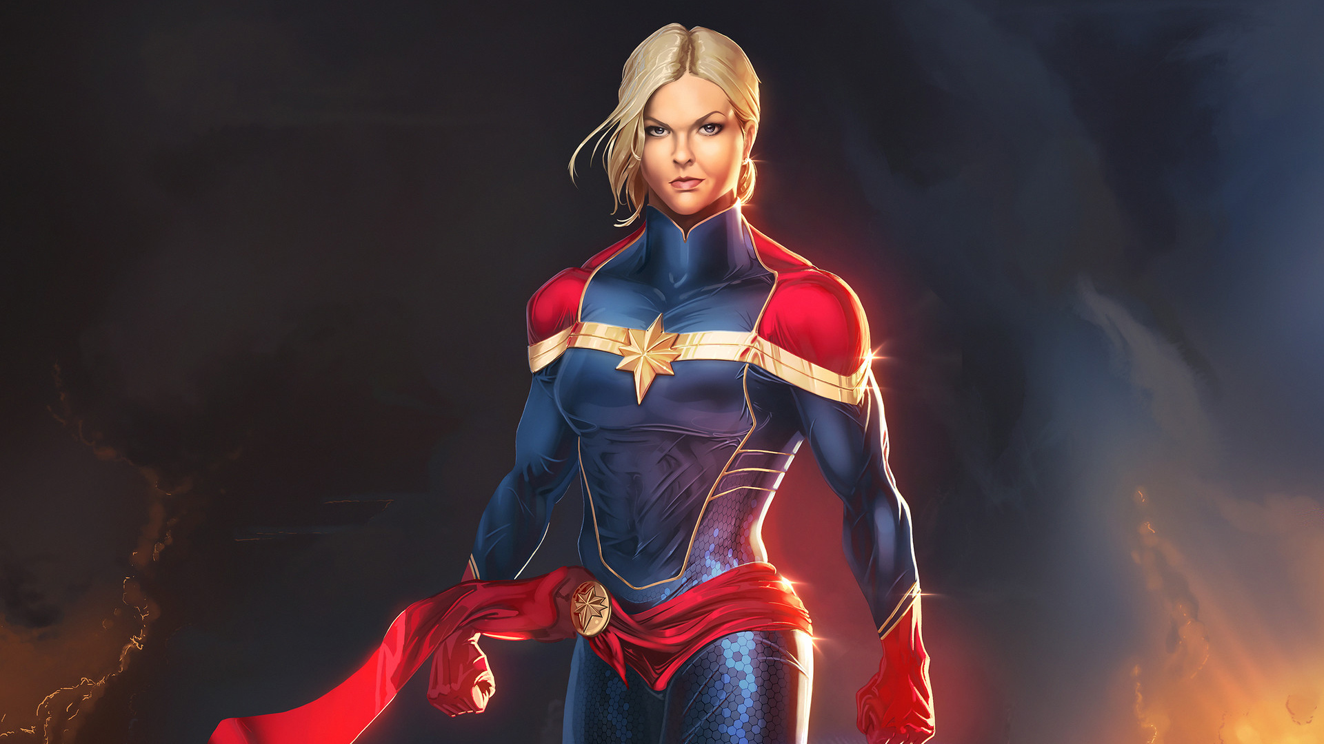 Captain Marvel Hd Wallpaper Background Image 1920x1080 Id