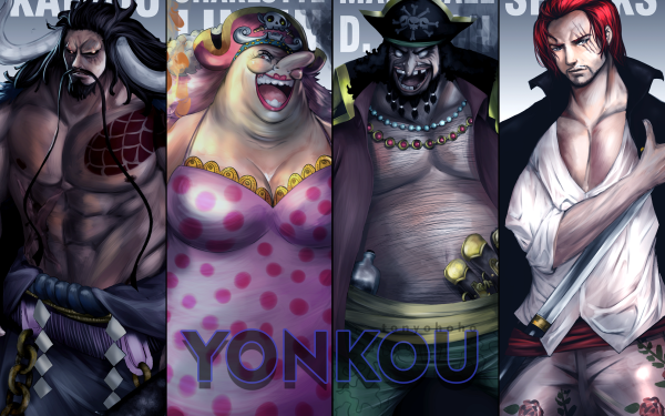 Anime One Piece Kaido Charlotte Linlin Marshall D. Teach Shanks Yonko HD Wallpaper | Background Image