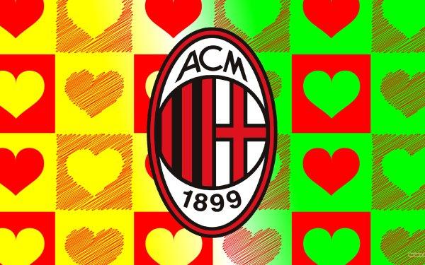 Sports A.C. Milan Soccer Club Logo Emblem HD Wallpaper   Background Image