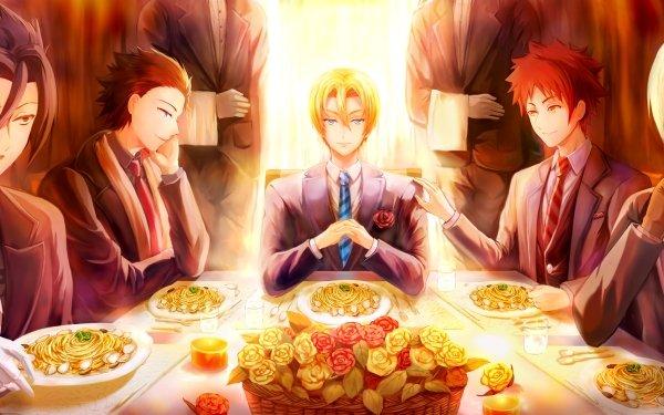 Anime Food Wars: Shokugeki no Soma Takumi Aldini Isami Aldini Sōma Yukihira Akira Hayama Ryō Kurokiba HD Wallpaper | Background Image