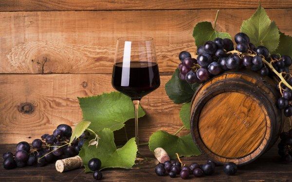 Food Still Life Wine Glass Grapes Fruit Barrel HD Wallpaper | Background Image