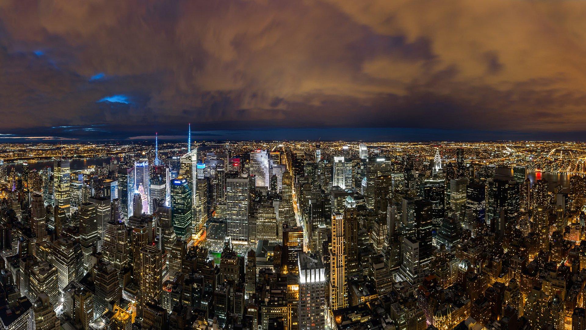 New York City At Night Fond Décran Hd Arrière Plan